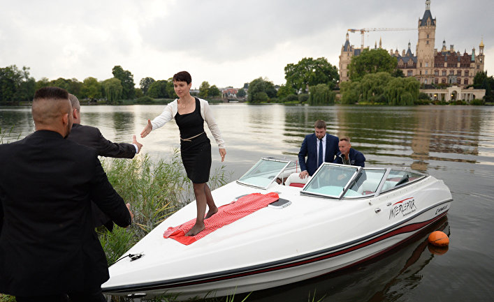 Лидер партии «Альтернатива для Германии» Фрауке Петри прибыла в Мекленбург-Передняя Померания