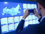 Информационные экраны в Центральной избирательной комиссии