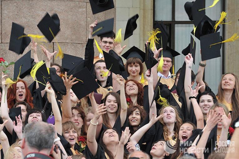 Вручение дипломов с отличием выпускникам МГУ им. М.В.Ломоносова