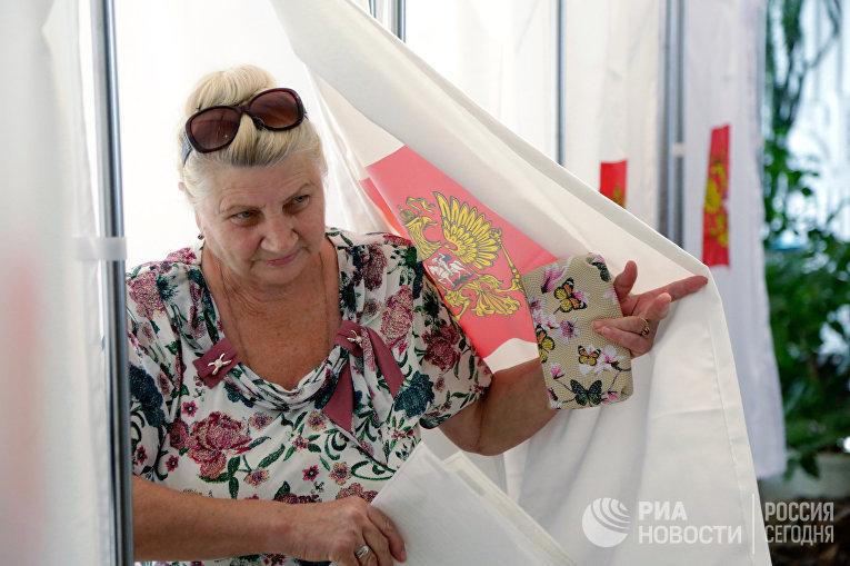 Единый день голосования в регионах России. Симферополь, Республика Крым, Россия