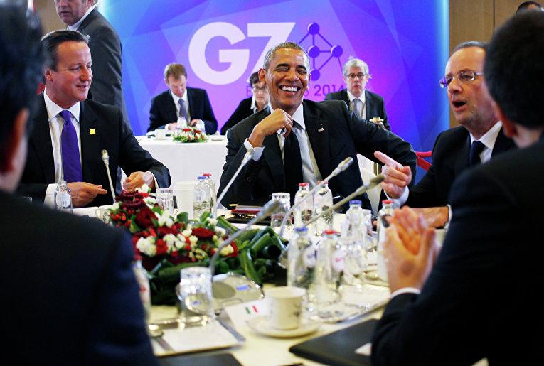 Барак Обама на саммите G7 в Брюсселе