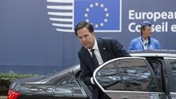 Голландский премьер-министр Марк Рютте на саммите ЕС в Брюсселе