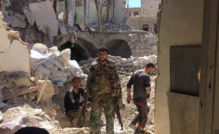 Бойцы сирийской армии в Алеппо