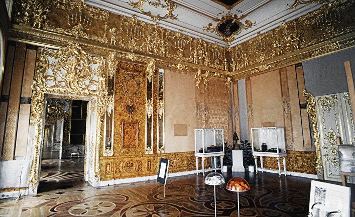 Восстановление Янтарной комнаты Екатерининского дворца в городе Пушкине