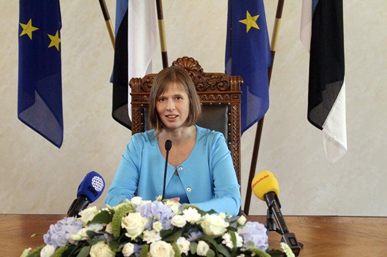Эстонский политик Керсти Кальюлайд