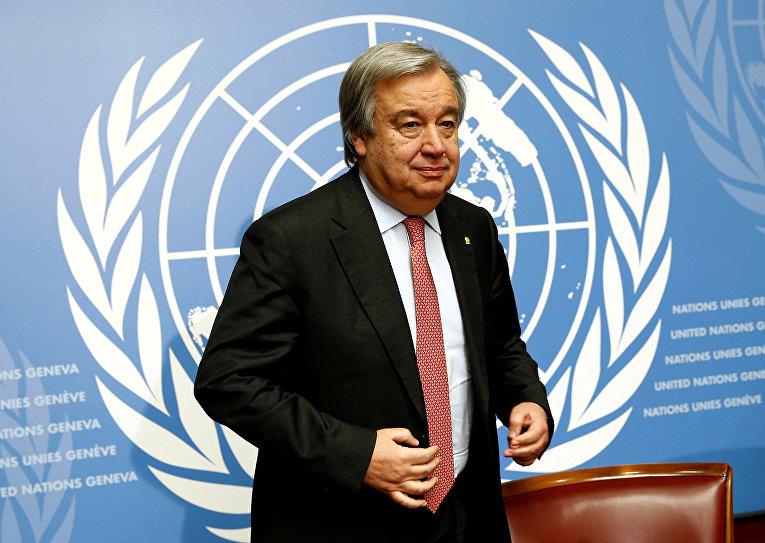 Верховный комиссар ООН по делам беженцев Антонио Гутерриш