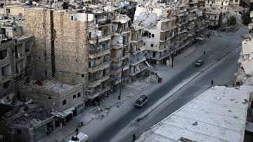 Разрушенные здания в районе Тарик Аль-баб в Алеппо