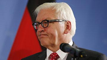 Министр иностранных дел Германии Франк-Вальтер Штайнмайер в Министерстве иностранных дел в Берлине