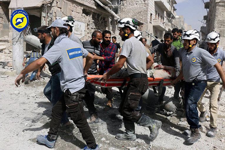 Волонтерская организация спасателей «Белые шлемы» в Алеппо