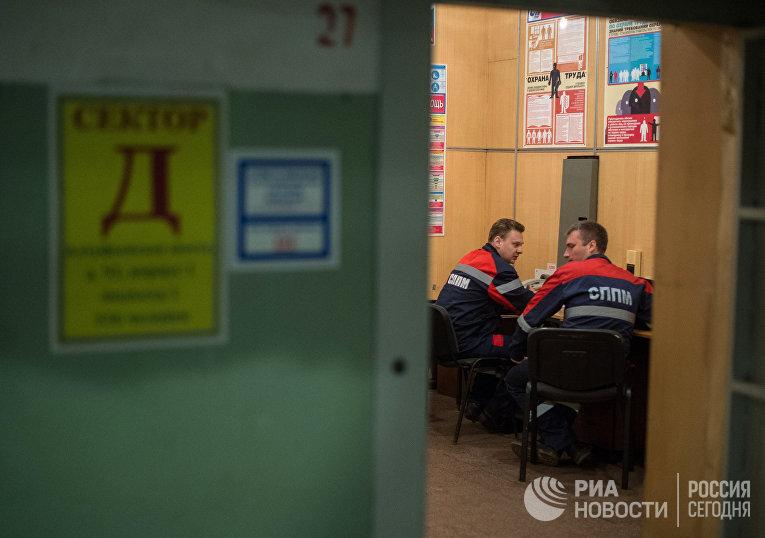 Пункт связи в бомбоубежище на Алтуфьевском шоссе в Москве
