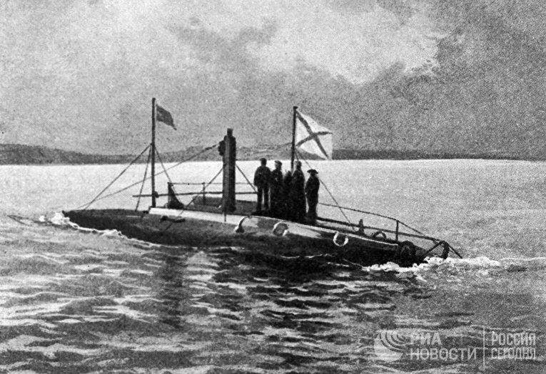 """Первая русская подводная лодка """"Дельфин"""""""