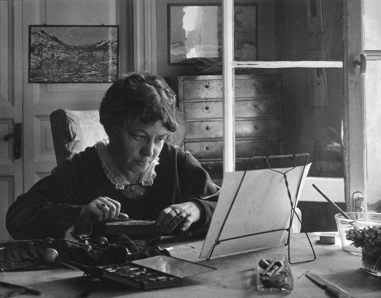 Анна Петровна Остроумова-Лебедева, 1921 год