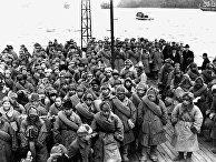 Интернированные японские солдаты возвращаются из Сибири. Майдзуро, Киото, 1946 год