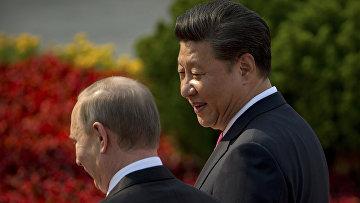 Председатель КНР Си Цзиньпин и президент РФ Владимир Путин