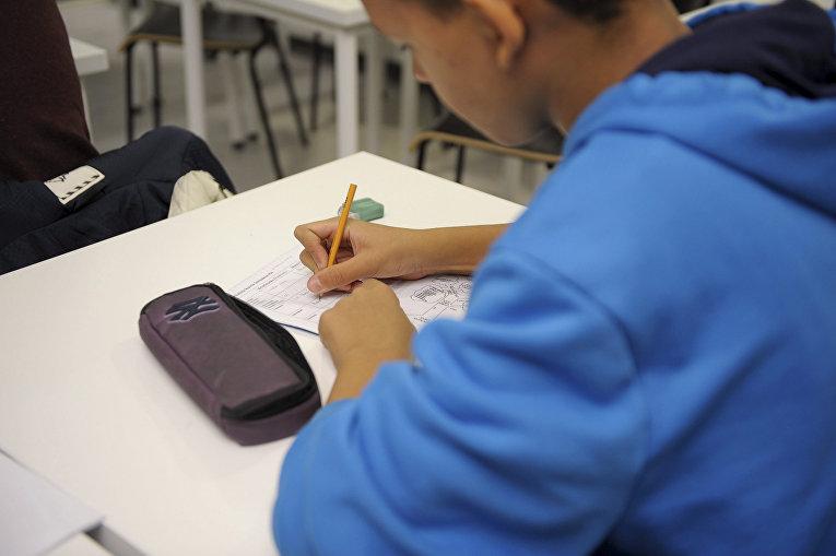 Ученик в общеобразовательной школе в Хельсинки