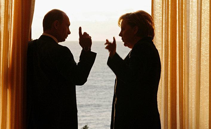 Встреча президента России и канцлера Германии в России