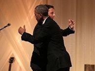 Президент США Барак Обама и премьер-министр Италии Маттео Ренци