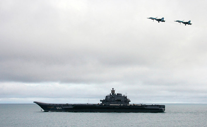 Российский авианосец «Адмирал Кузнецов»
