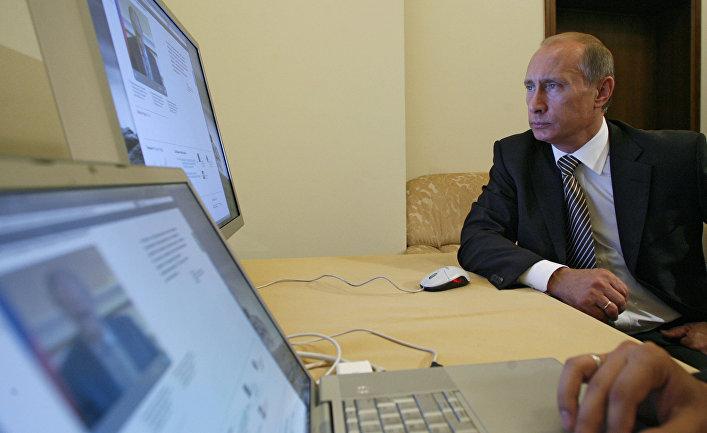 Владимир Путин ознакомился с работой нового официального сайта председателя правительства РФ