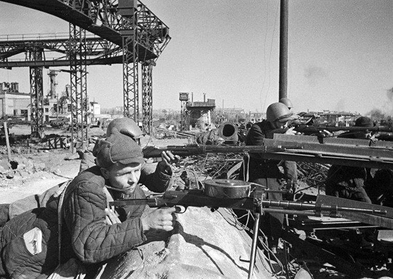 Обстрел в Сталинграде