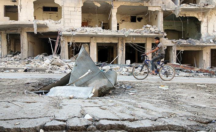 Руины в районе Аль-Суккари в Алеппо