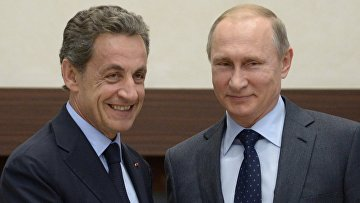 Президент РФ В.Путин встретился с экс президентом Франции Н.Саркози