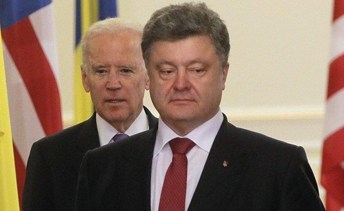 Джо Байден и Петр Порошенко