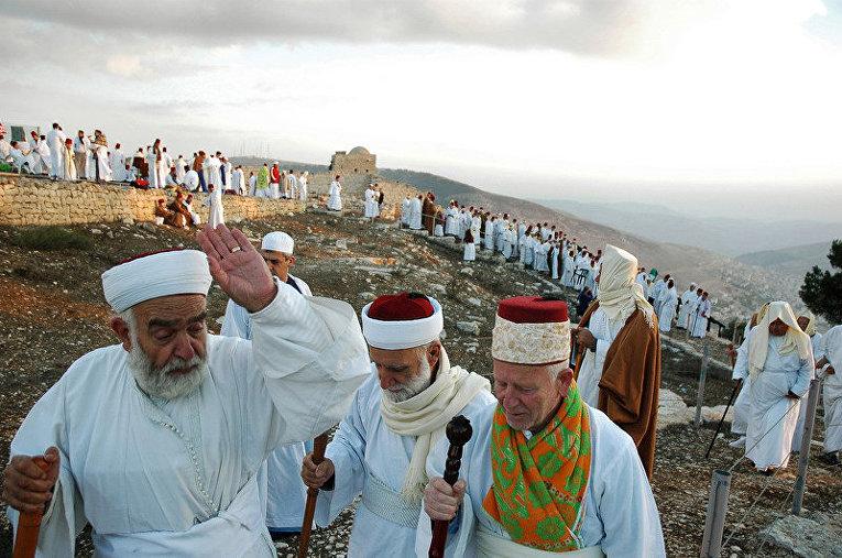 Самаритяне на горе Гризим в праздник Шавуот