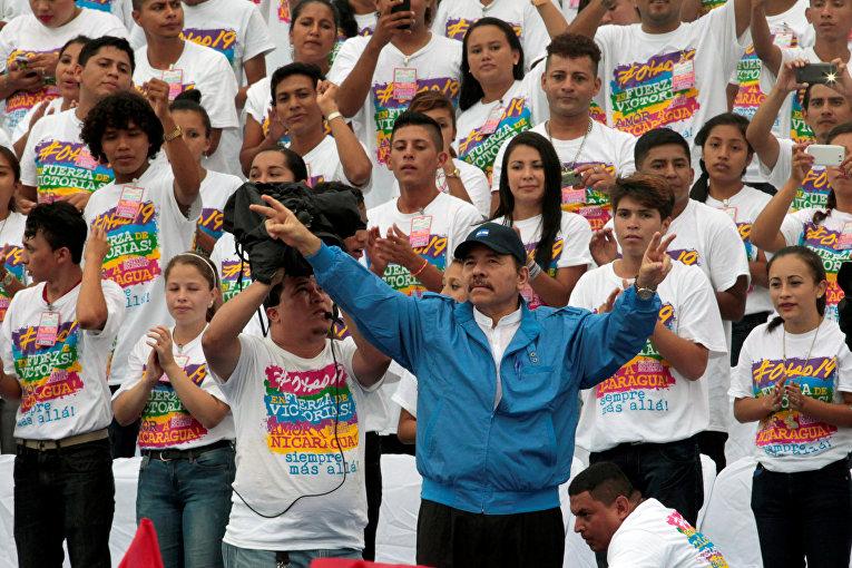 Президент Никарагуа Даниэль Ортега