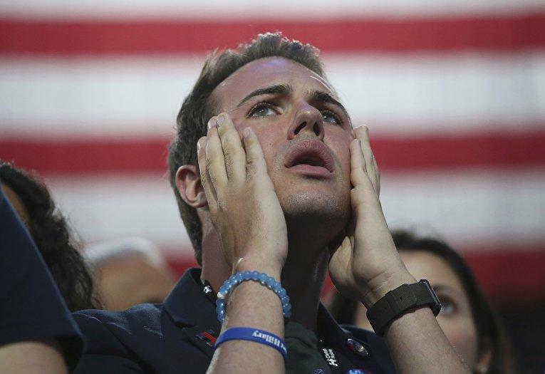 Сторонники Хиллари Клинтон в Нью-Йорке