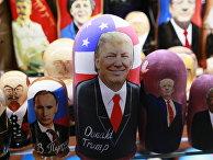 Матрешки с портретом Дональда Трампа продаются в Москве