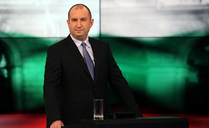 Кандидат в президенты Болгарии Румен Радев на предвыборных дебатах