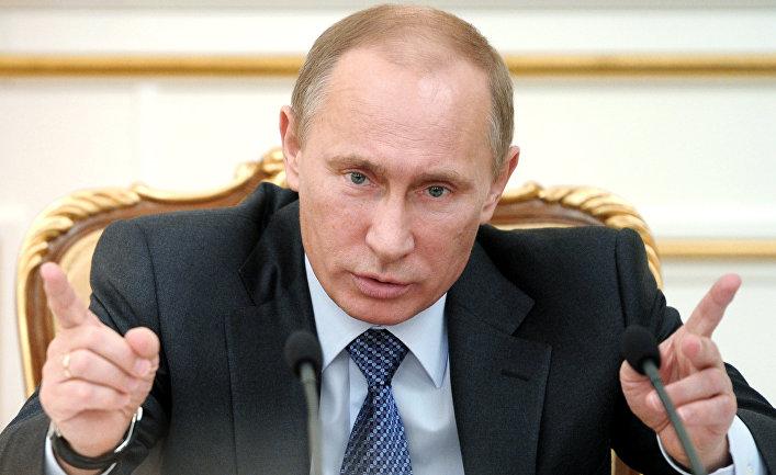 Владимир Путин проводит заседание президиума правительства РФ