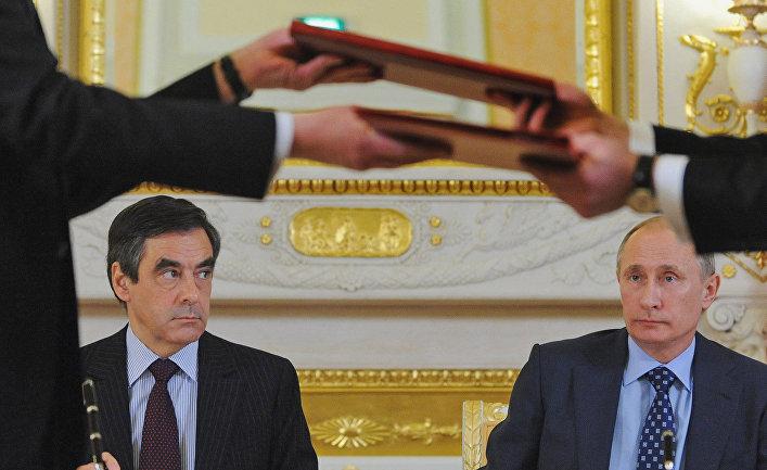 Франсуа Фийон и Владимир Путин, 2011 год