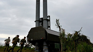Новый береговой ракетный комплекс «Бастион» во время учений в Приморском крае