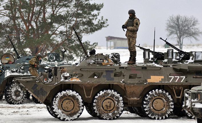 Военнослужащие украинских вооруженных сил Украины