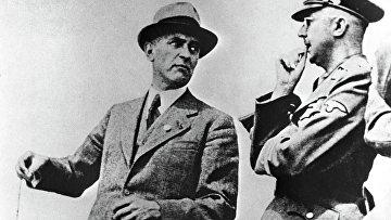 Макс Фауст и рейхсфюрер СС Генрих Гиммлер (слева направо). Архивное фото