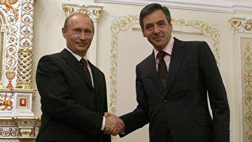 Премьер-министр РФ Владимир Путин встретился с Франсуа Фийоном