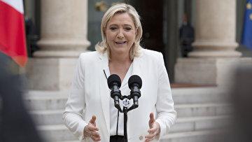 Лидер политической партии «Национальный фронт» Марин Ле Пен