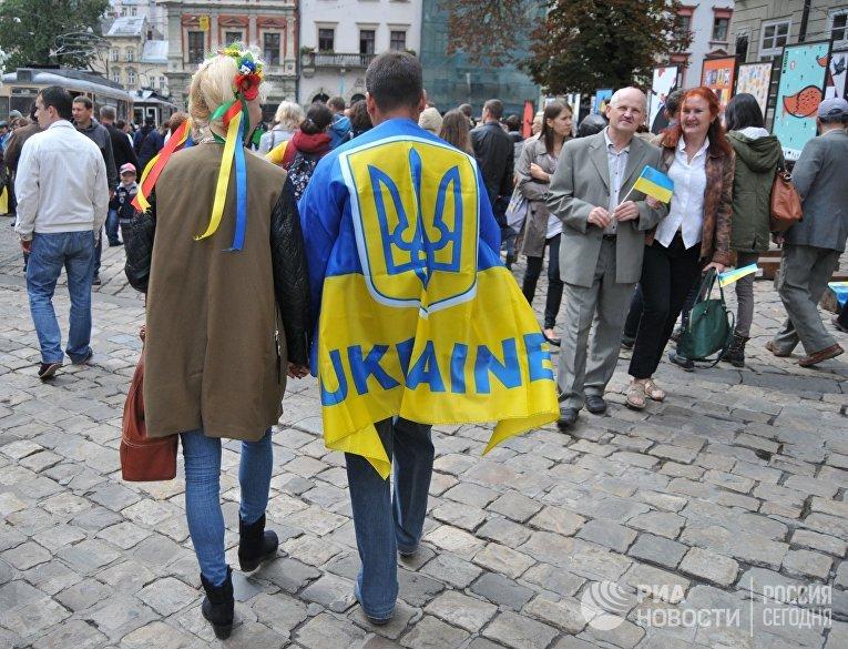 Празднование Дня Независимости Украины во Львове