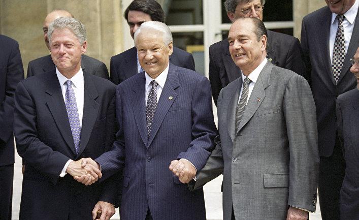 Билл Клинтон, Борис Ельцин, Жак Ширак