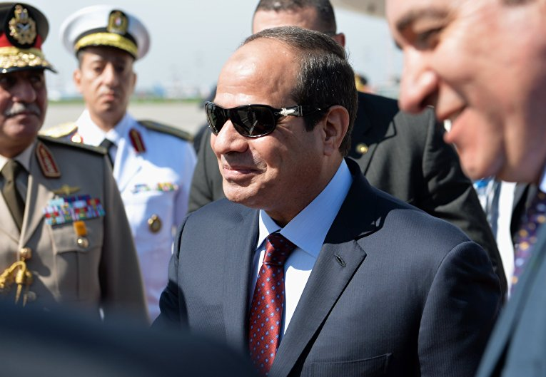 Прилет президента Египта Абдель Фатаха ас-Сиси в Москву