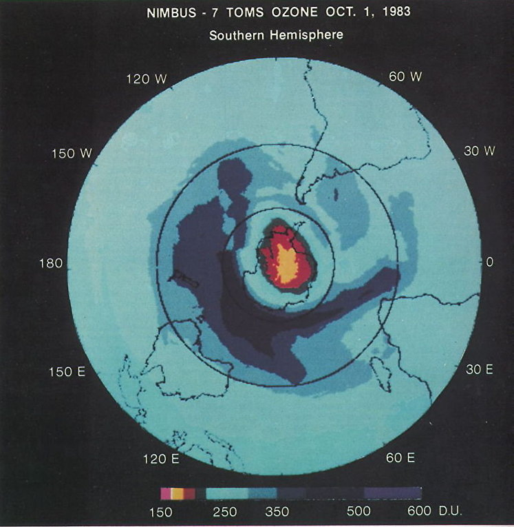 Гигантская дыра в озоновом слое Земли
