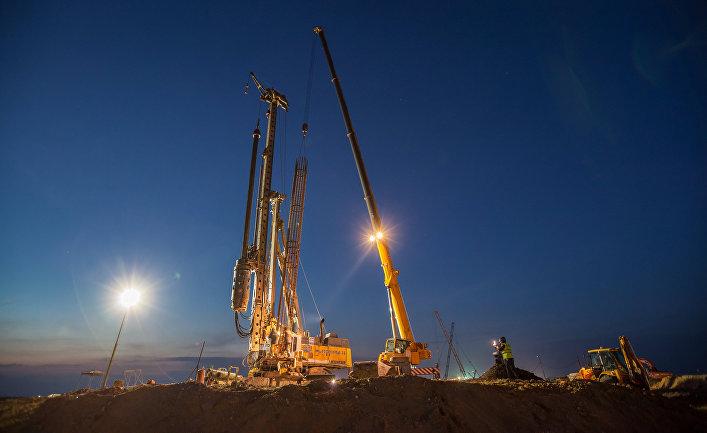 Строители завершили фундамент опор первого участка Керченского моста