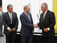 Президент России Владимир Путин и председатель совета директоров компании «ЭксонМобил» Рекс Уейн Тиллерсон