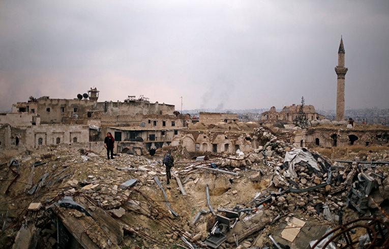 Руины в Алеппо