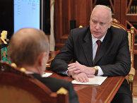 Встреча Владимира Путина с Александром Бастрыкиным в Кремле