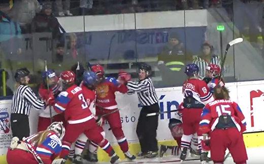 Чехия - Россия. Женская лига