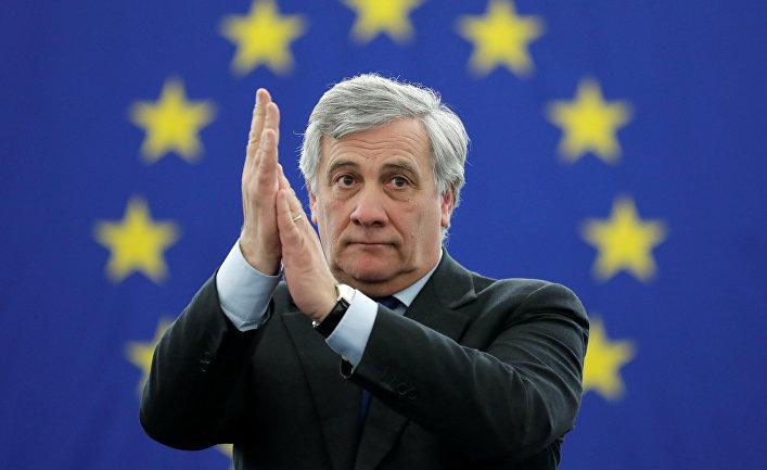 Новоизбранный председатель Европарламента Антонио Таяни