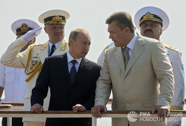 Владимир Путини Виктор Янукович в Севастополе
